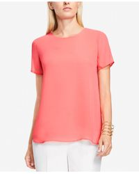 Vince Camuto | Pink High-low Chiffon Top | Lyst