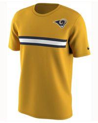 Nike - Metallic Men's Los Angeles Rams Color Rush Stripe T-shirt for Men - Lyst
