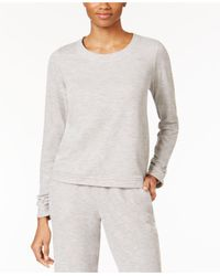 Alfani | Gray Double-knit Pajama Top | Lyst
