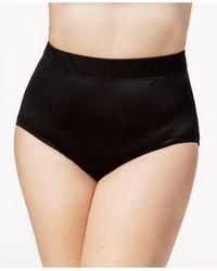 Miraclesuit   Black Plus Size High-waist Swim Briefs   Lyst