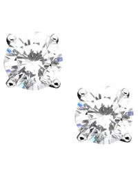 Giani Bernini - Metallic Sterling Silver Earrings, Cubic Zirconia Stud (2 Ct. T.w.) - Lyst