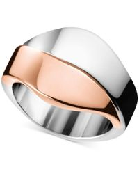 Calvin Klein | Multicolor Women's Senses Two-tone Pvd Stainless Steel Ring Kj5epr2001 | Lyst