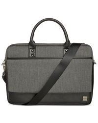 Knomo - Black Herringbone Laptop Briefcase for Men - Lyst
