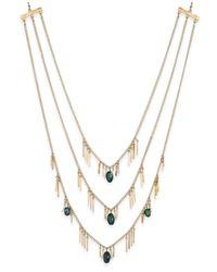 INC International Concepts | Metallic Gold-tone Three-row Beaded Fringe Necklace | Lyst
