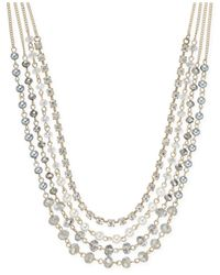 INC International Concepts | Metallic Crystal Bead Imitation Pearl Gold-tone Multi-row Necklace | Lyst