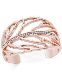 INC International Concepts - Metallic Pavé Cuff Bracelet - Lyst