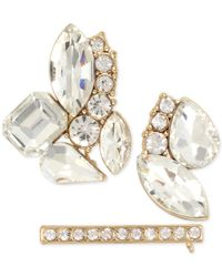 INC International Concepts | Metallic 3-pc. Gold-tone Crystal Cluster Pin Set | Lyst