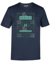 Hurley | Blue Men's Shacked Premium Graphic-print Logo T-shirt for Men | Lyst