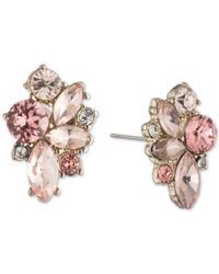 Givenchy - Metallic Gold-tone Crystal Cluster Stud Earrings - Lyst