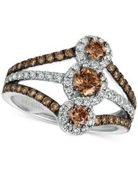 Le Vian | Metallic Diamond Statement Ring (1-1/3 Ct. T.w.) In 14k White Gold | Lyst
