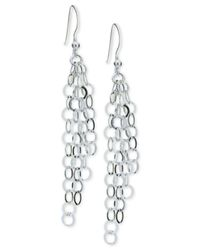 Giani Bernini - Metallic Multi-ring Cascade Drop Earrings In Sterling Silver, - Lyst