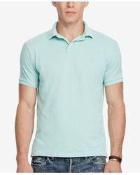 Polo Ralph Lauren - Blue Men's Custom Slim-fit Mesh Polo for Men - Lyst
