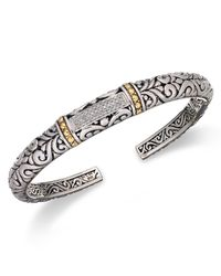Effy Collection - Metallic Balissima By Effy Diamond Swirl Bangle (1/5 Ct. T.w.) In 18k Gold And Sterling Silver - Lyst