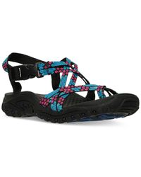 3d3bea96fb1b Lyst - Skechers Women s Reggae Loopy Sport Sandals From Finish Line ...