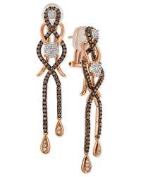 Le Vian | Metallic Diamond Drop Earrings (1-3/8 Ct. T.w.) In 14k Rose Gold | Lyst
