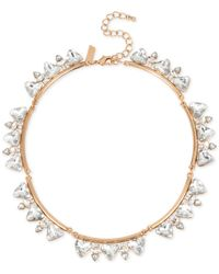INC International Concepts | Metallic Rose Gold-tone Large Crystal Collar Necklace | Lyst
