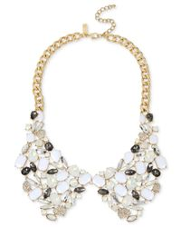 INC International Concepts | Metallic Gold-tone Multi-stone And Crystal Lapel Collar Necklace | Lyst