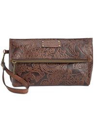 Patricia Nash | Brown Tooled Lace Valerie Wristlet | Lyst