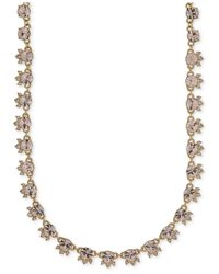 Givenchy | Metallic Gold-tone Silky Crystal Collar Necklace | Lyst