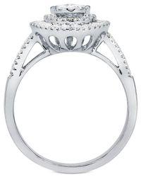 Macy's - Metallic Diamond Teardrop Cluster Ring (1 Ct. T.w.) In 14k White Gold - Lyst