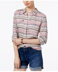Tommy Hilfiger | Multicolor Striped Roll-tab Shirt | Lyst