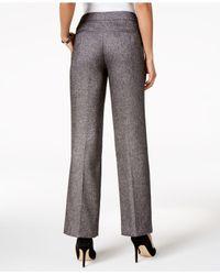 Nine West | Black Straight-leg Pants | Lyst