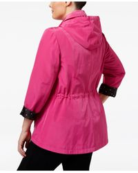 Charter Club | Red Plus Size Utility Rain Jacket | Lyst