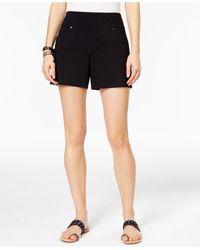 INC International Concepts | Black Pull-on Shorts | Lyst