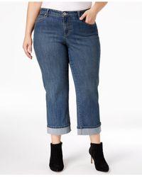 Style & Co. | Multicolor Plus Size Cuffed Capri Tummy-control Curvy-fit Jeans | Lyst