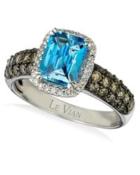 Le Vian | Signity Blue Topaz (1-1/5 Ct. T.w.) And Diamond (3/4 Ct. T.w.) Ring In 14k White Gold | Lyst