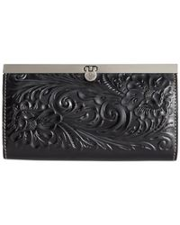 Patricia Nash | Black Tooled Cauchy Wallet | Lyst