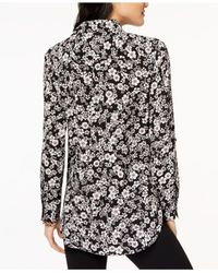 Tommy Hilfiger - Black Floral-print Utility Shirt, Created For Macy's - Lyst