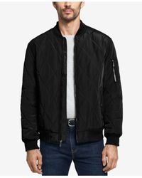 Weatherproof Black Men's Quilted Baseball Bomber Jacket for men