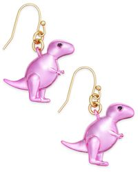 Kate Spade | Metallic 14k Gold-plated T-rex Drop Earrings | Lyst