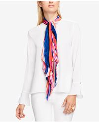 Vince Camuto | White Tie-neck Bell-sleeve Blouse | Lyst