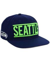 47 Brand | Blue Seattle Seahawks On Track Captain Cap for Men | Lyst