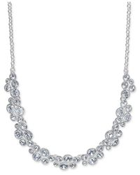 Charter Club - Metallic Silver-tone Crystal Necklace - Lyst