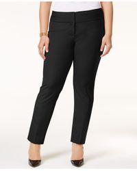 Alfani | Black Plus Size Straight-leg Pants | Lyst