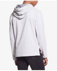 DKNY - Gray Stripe Logo-print Hoodie for Men - Lyst