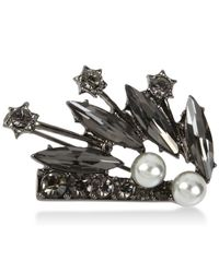INC International Concepts | Gray Hematite-tone Imitation Pearl And Jet Stone Pin | Lyst