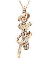Le Vian | Metallic Diamond Chocolate Diamond Twirl Pendant (3/4 Ct. T.w.) In 14k Rose Gold | Lyst