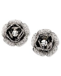 Betsey Johnson | Metallic Rose Bud Stud Earrings | Lyst