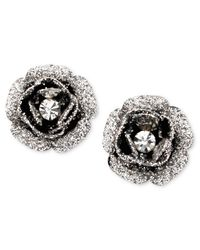 Betsey Johnson | Pink Rose Bud Stud Earrings | Lyst