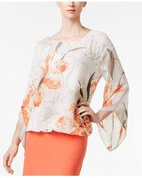 Alfani | Multicolor Petite Printed Angel-sleeve Top | Lyst