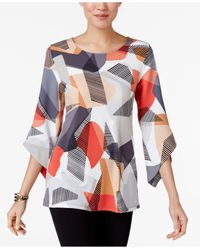 Alfani | Multicolor Angel-sleeve Top | Lyst