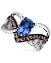 Le Vian | Metallic Tanzanite (1 Ct. T.w.) And Diamond (1/3 Ct. T.w.) Ring In 14k White Gold | Lyst