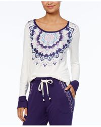 Lucky Brand | White Graphic-print Pajama Top | Lyst