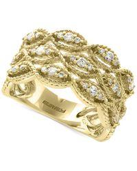 Effy Collection | Metallic Diamond Filigree Ring (1/2 Ct. T.w.) In 14k Gold | Lyst
