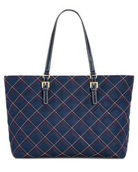 Tommy Hilfiger - Blue Julia Triple Quilted Nylon Tote, Created For Macy's - Lyst