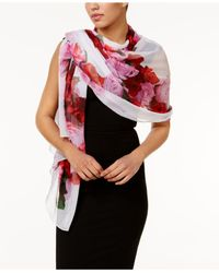 INC International Concepts | White Floral Heart Evening Wrap | Lyst